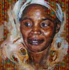 """African Queen Yellow"" - 45 x 45 - 2007"