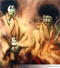 """Geishas Backstage"" - 175 x 155 - 1999"