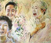 Laughing Geishas - 122 x 140 - 2010